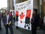 Outside Canada House, oil extraction is killing people